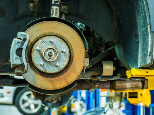 Brakes Repair Auto Service. Modern Car Brakes Servicing. Car Maintenance. Auto Service.
